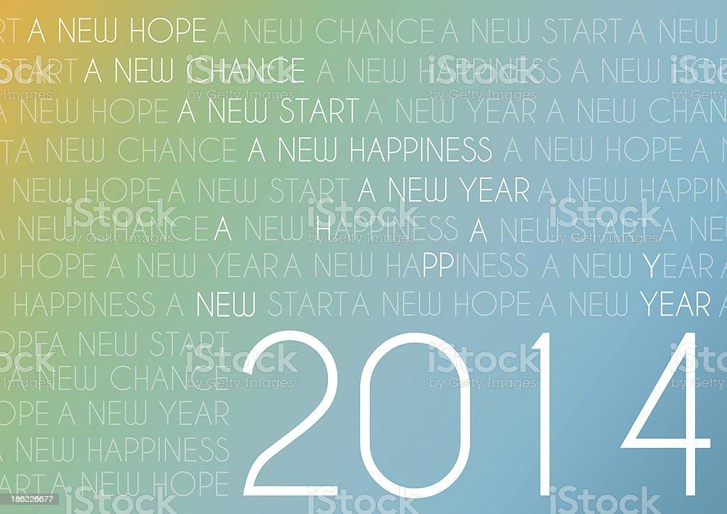 happy new year 2014 text abstract background royalty-free stock vector art
