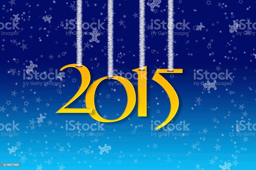 Happy New Year 2015 royalty-free stock vector art