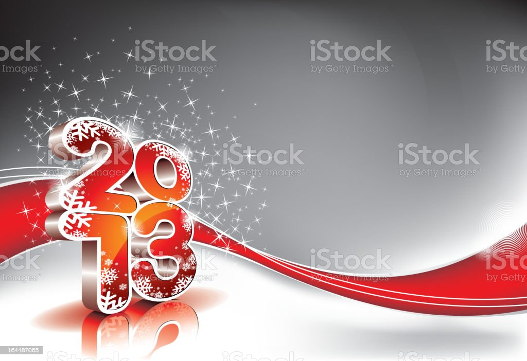 Happy New Year design with shiny 2013 text. royalty-free stock vector art