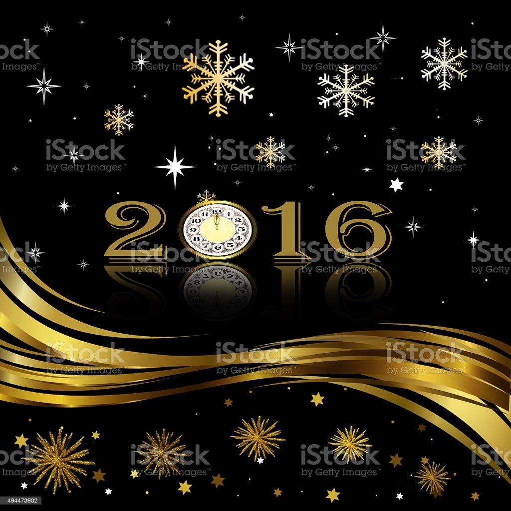 Happy New Year ! vector art illustration