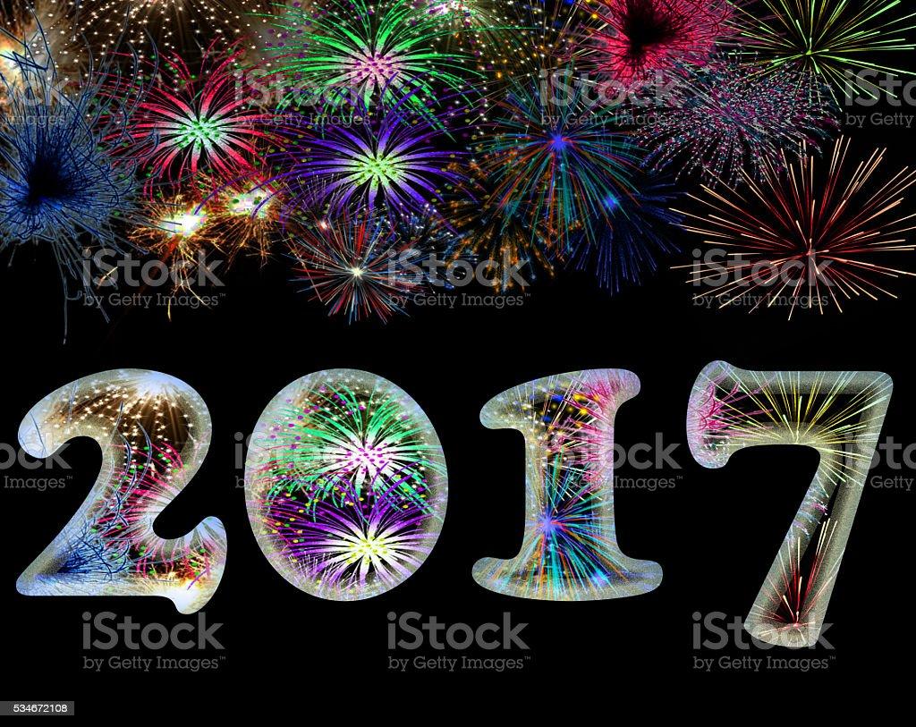 Happy New Year! vector art illustration