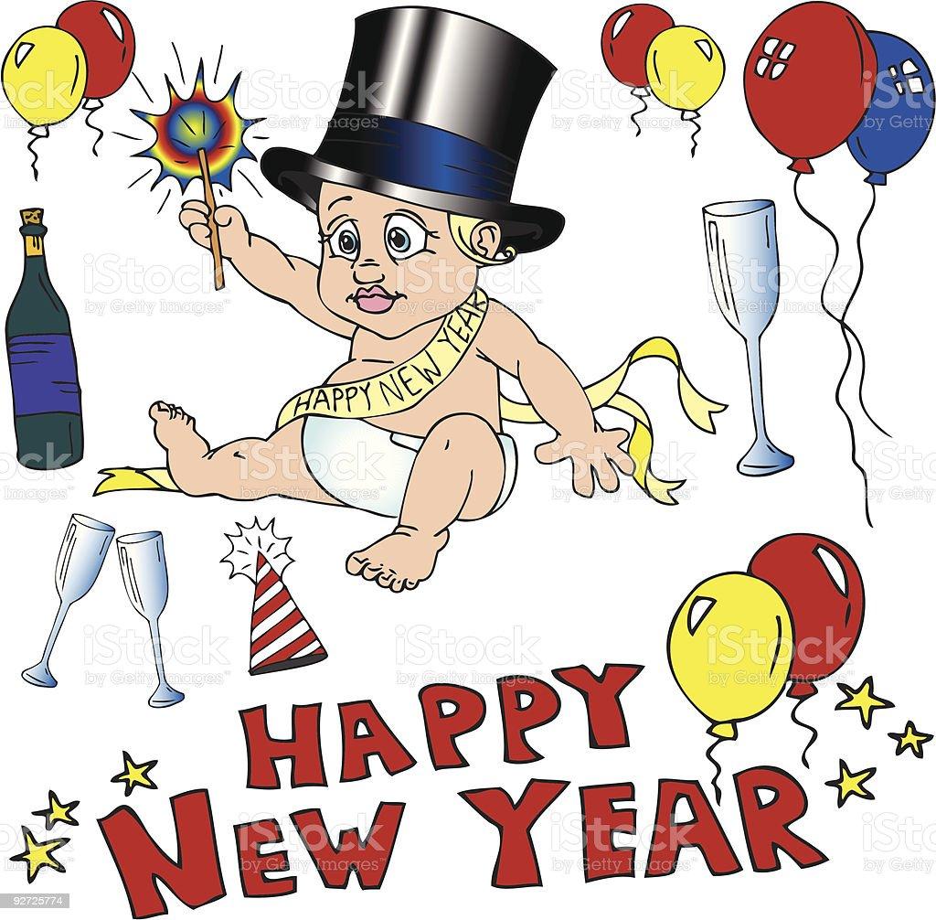 Happy New Year! Vector royalty-free stock vector art