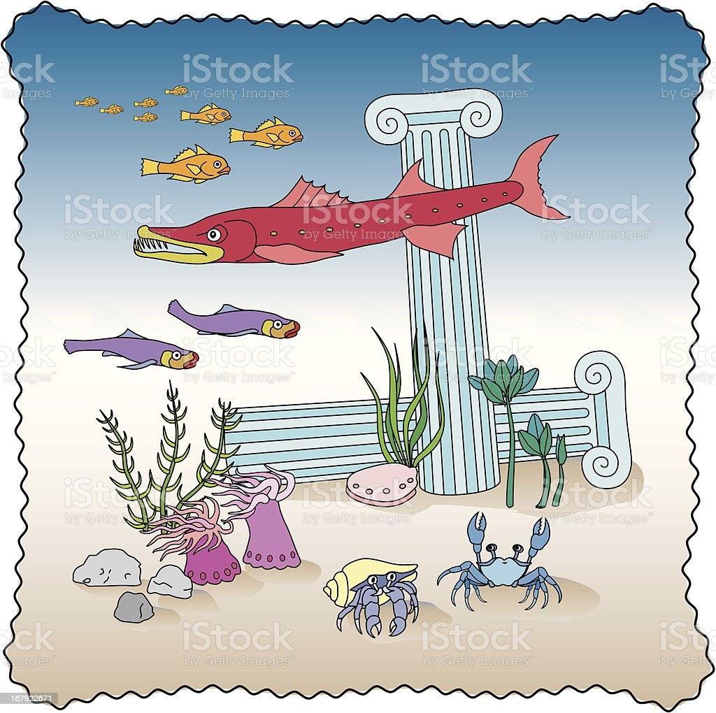 happy ocean scene royalty-free stock vector art