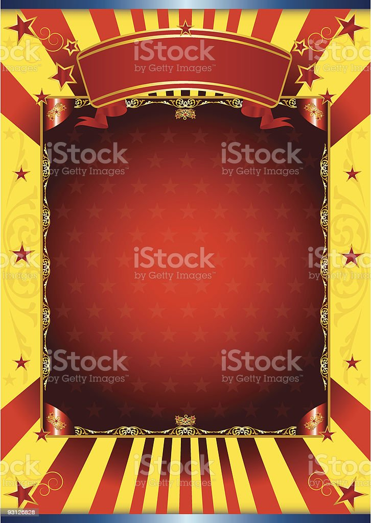 Happy poster circus royalty-free stock vector art