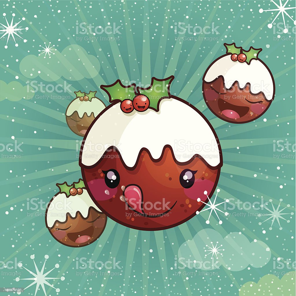 Happy pudding! royalty-free stock vector art