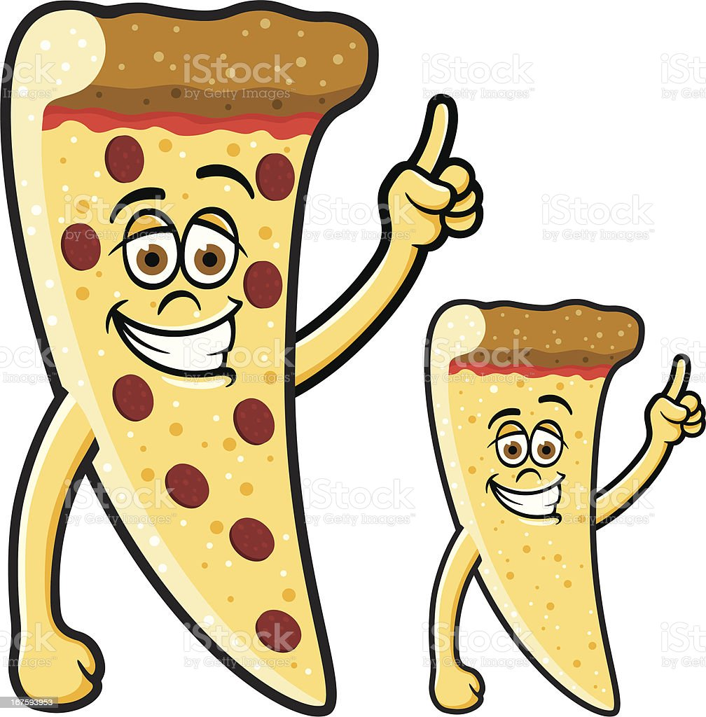 Happy Slice of Pepperoni Pizza vector art illustration