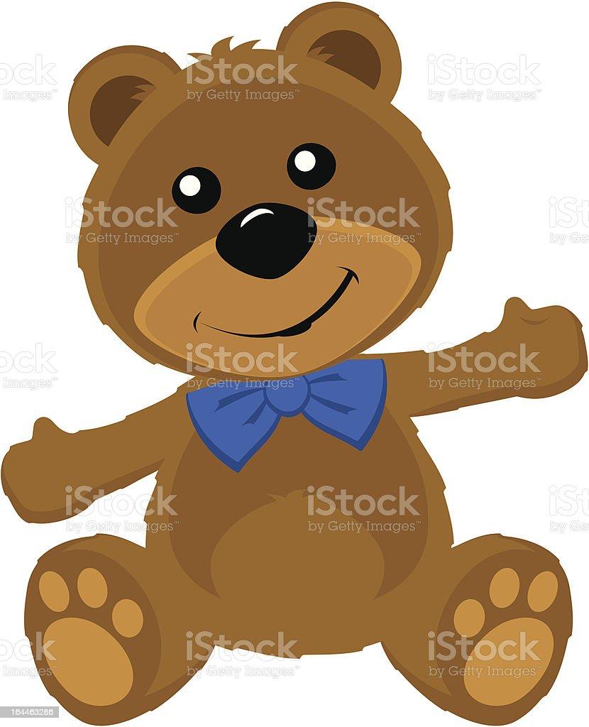 Happy Teddy Bear royalty-free stock vector art