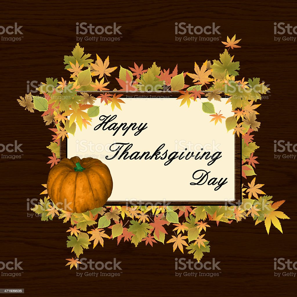 Happy thanksgiving day background royalty-free stock vector art