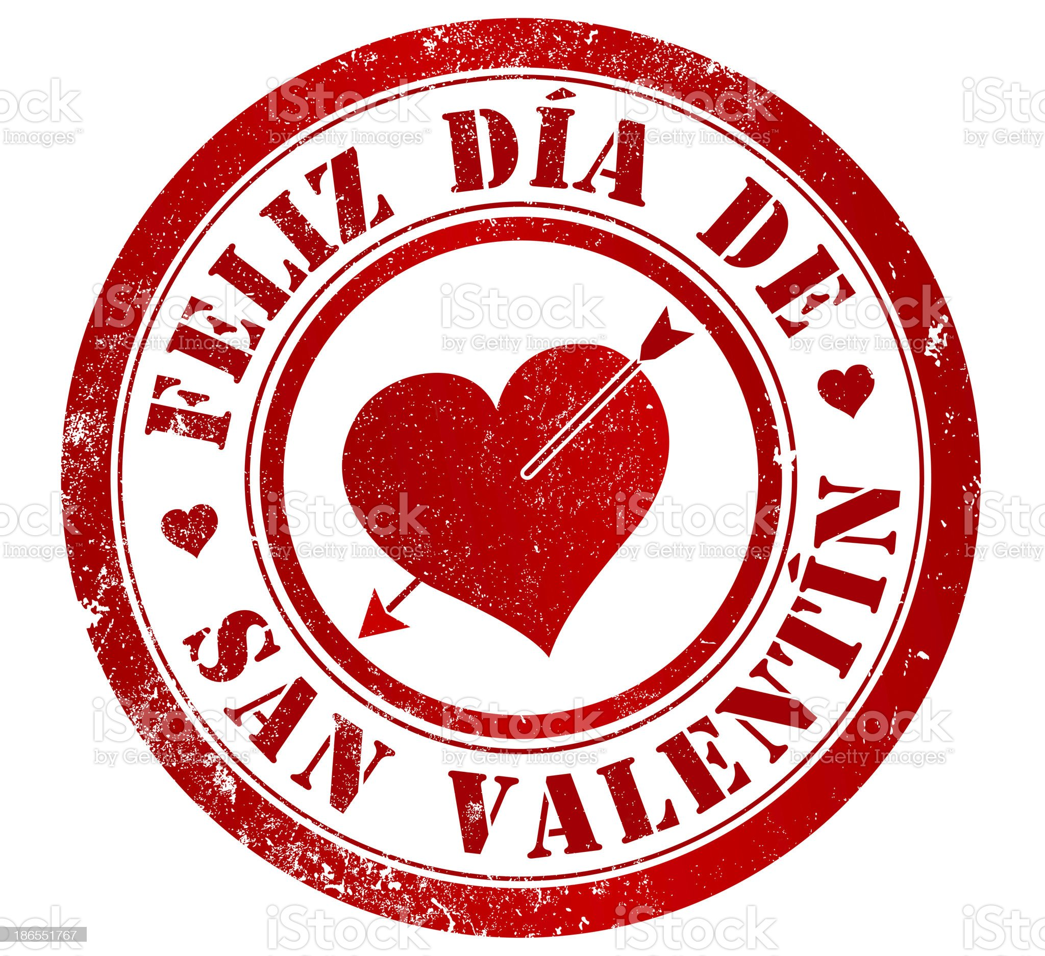 happy valentine's day stamp royalty-free stock vector art
