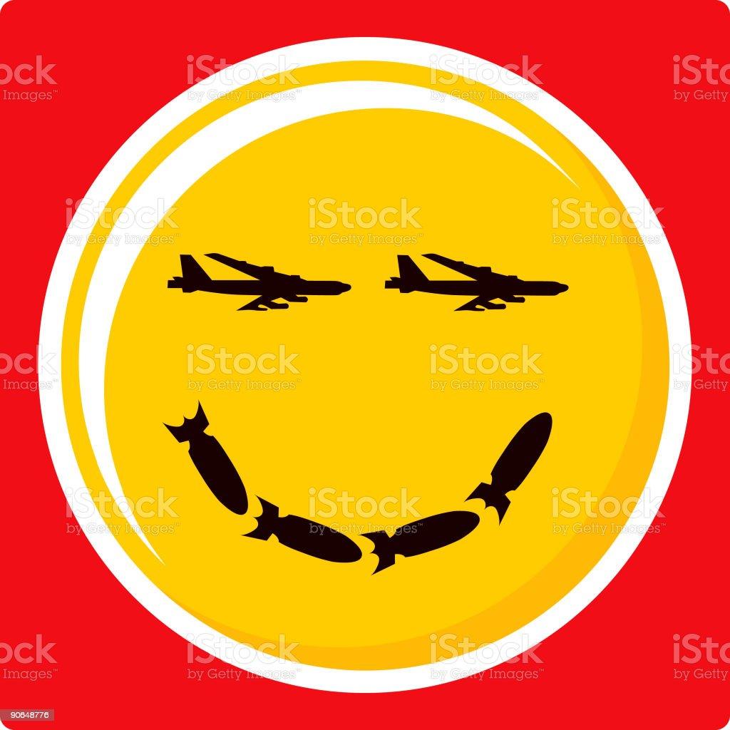 Happy War Face! (vector illustration) royalty-free stock vector art
