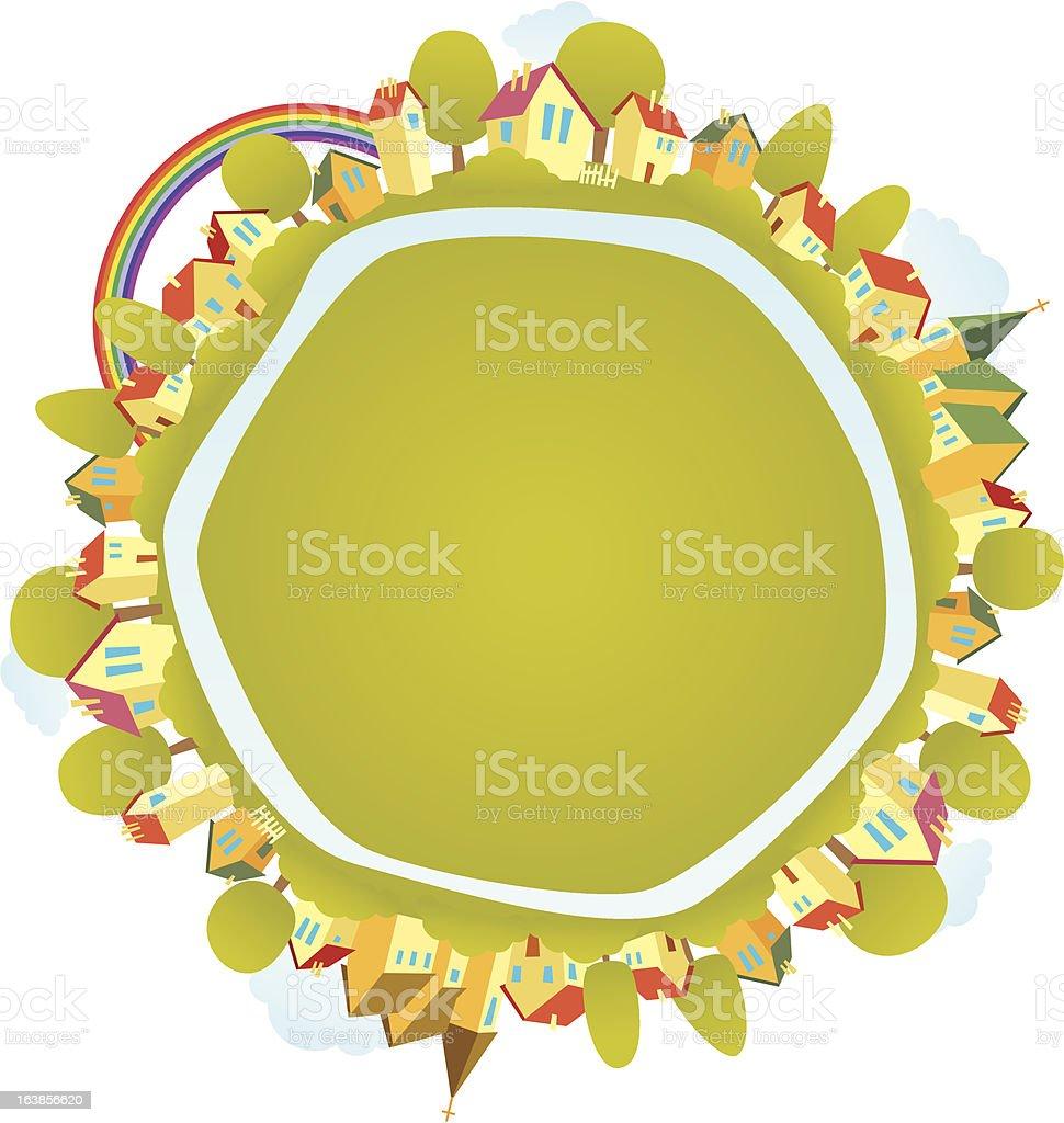 Happy World royalty-free stock vector art