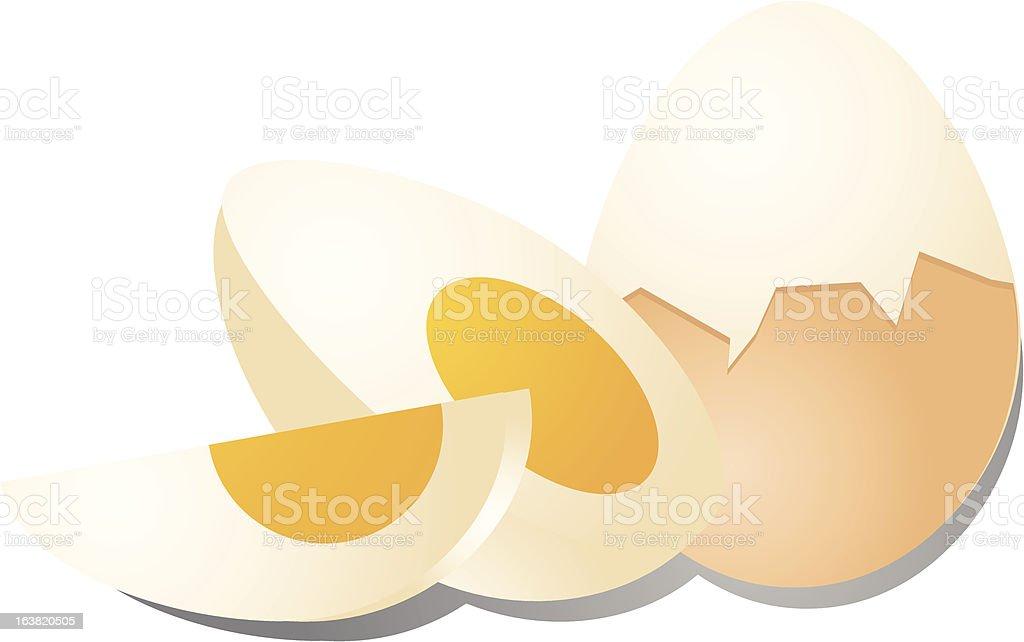 Hard boiled eggs vector art illustration