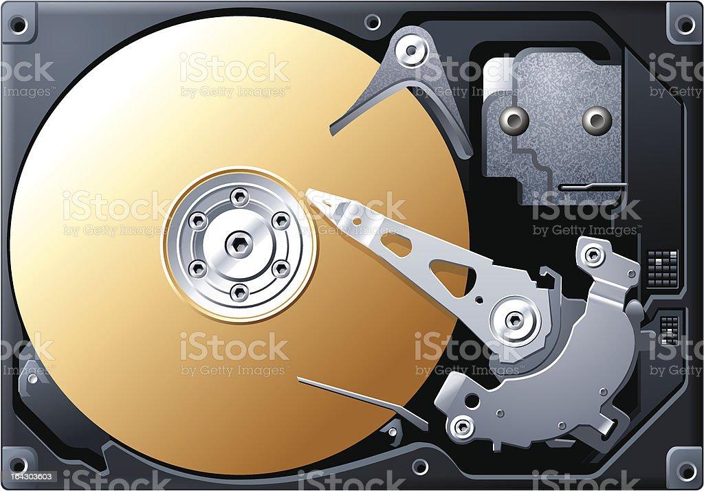 Hard Disk vector art illustration