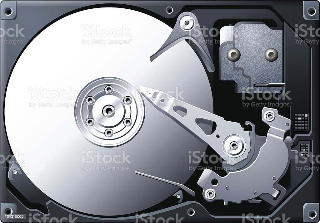 Hard Disk royalty-free stock vector art