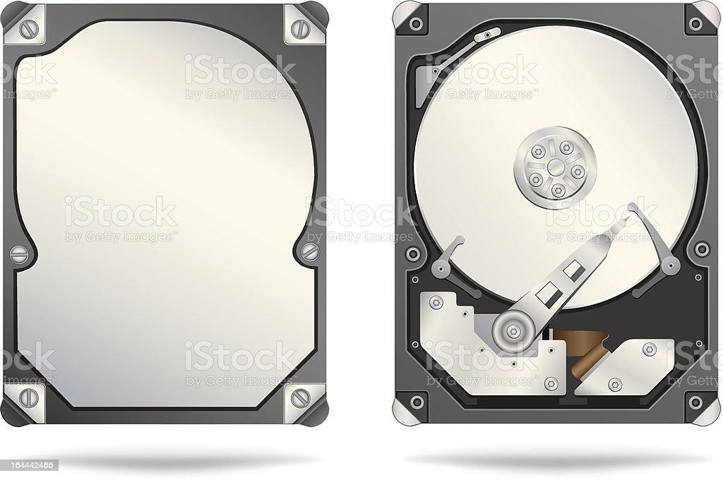 hard drive vector art illustration