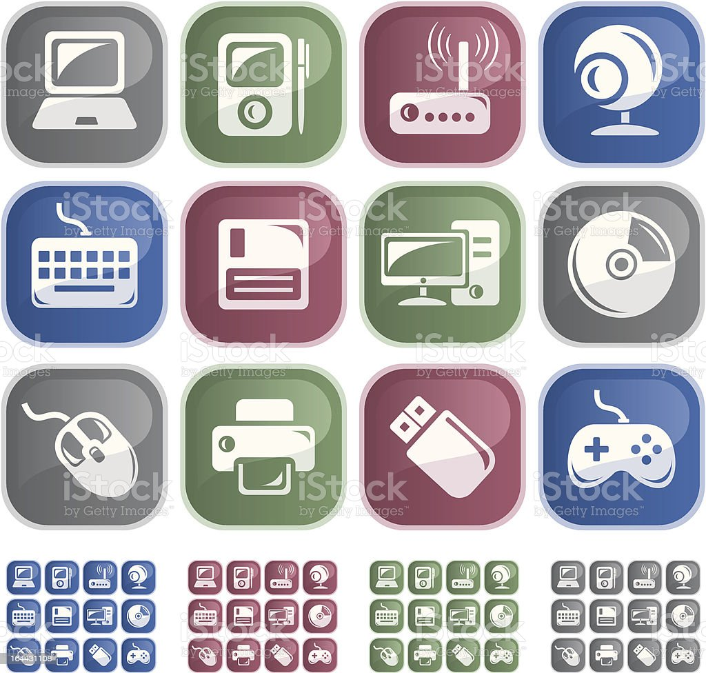 Hardware buttons royalty-free stock vector art