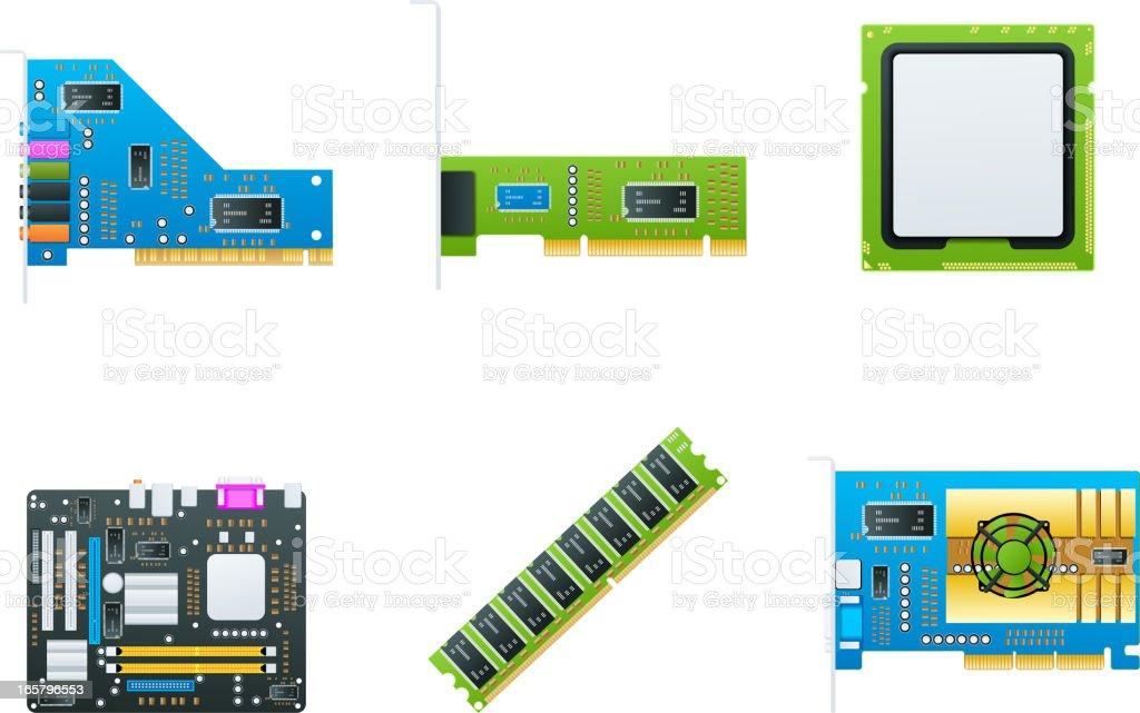 Hardware icons vector art illustration