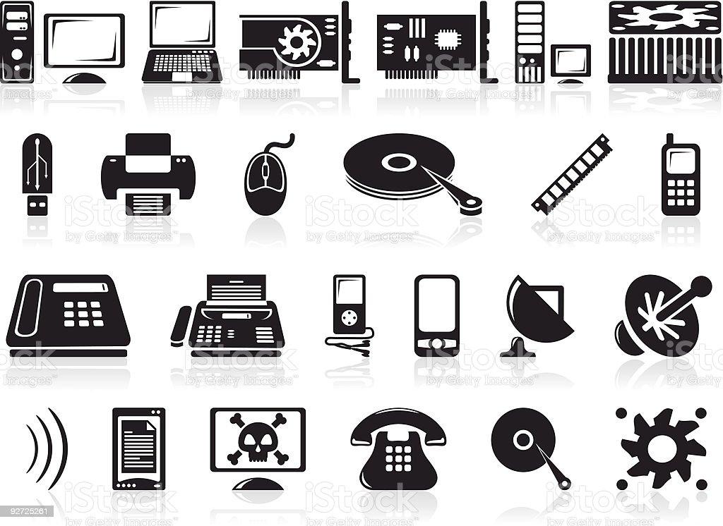 hardware icons set royalty-free stock vector art