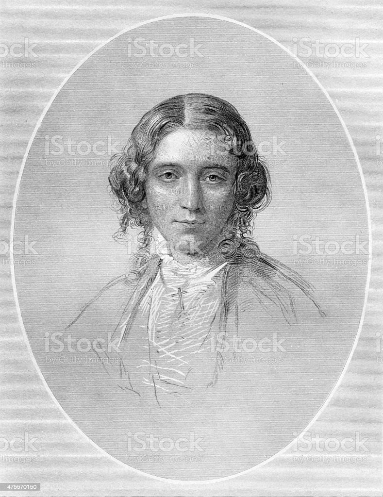 Harriet Beecher Stowe vector art illustration