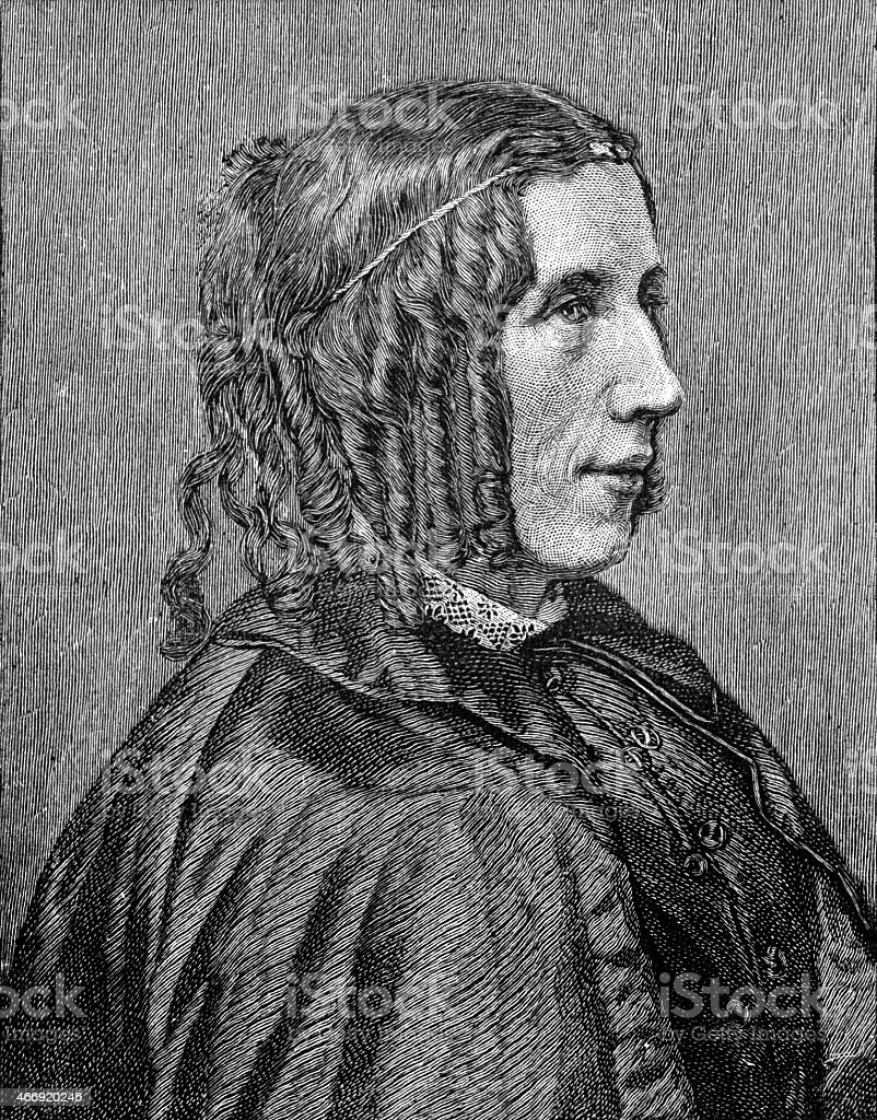 Harriet Elisabeth Beecher Stowe vector art illustration