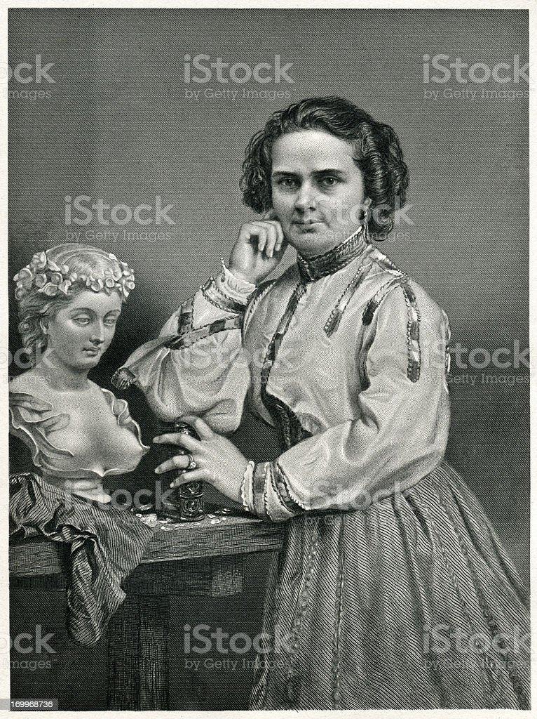 Harriet Hosmer royalty-free stock vector art