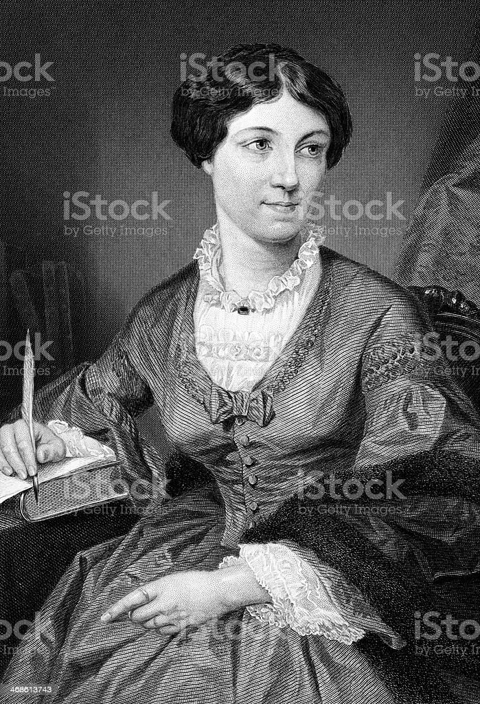 Harriet Martineau vector art illustration
