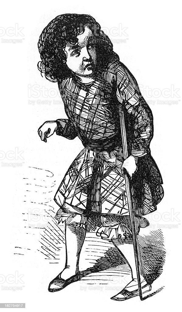 Harry's Imitation of Uncle Cudjoe vector art illustration