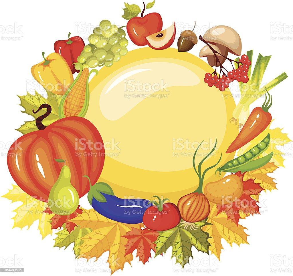 harvest card vector art illustration