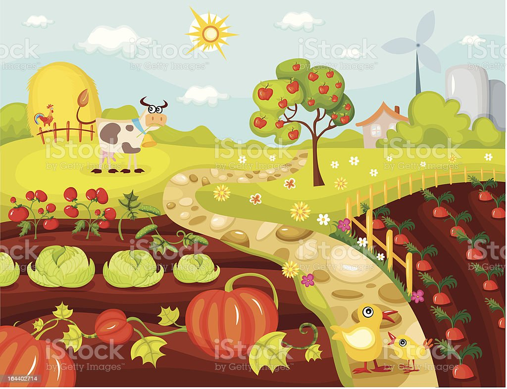harvest card royalty-free stock vector art