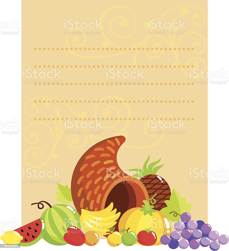 harvest of vegetables and fruits royalty-free stock vector art