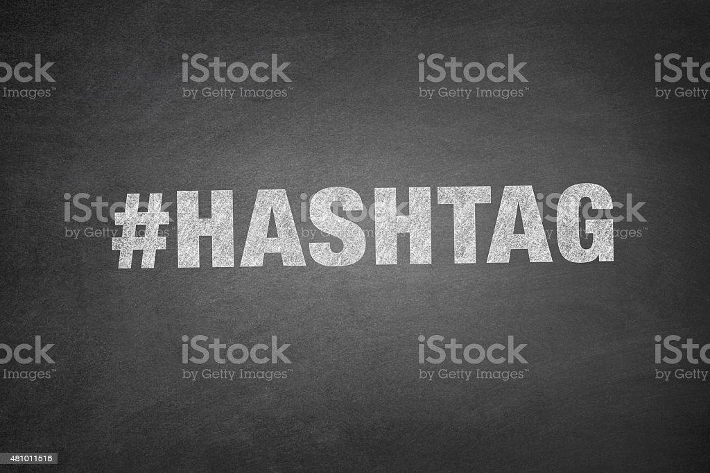 Hashtag on Blackboard vector art illustration