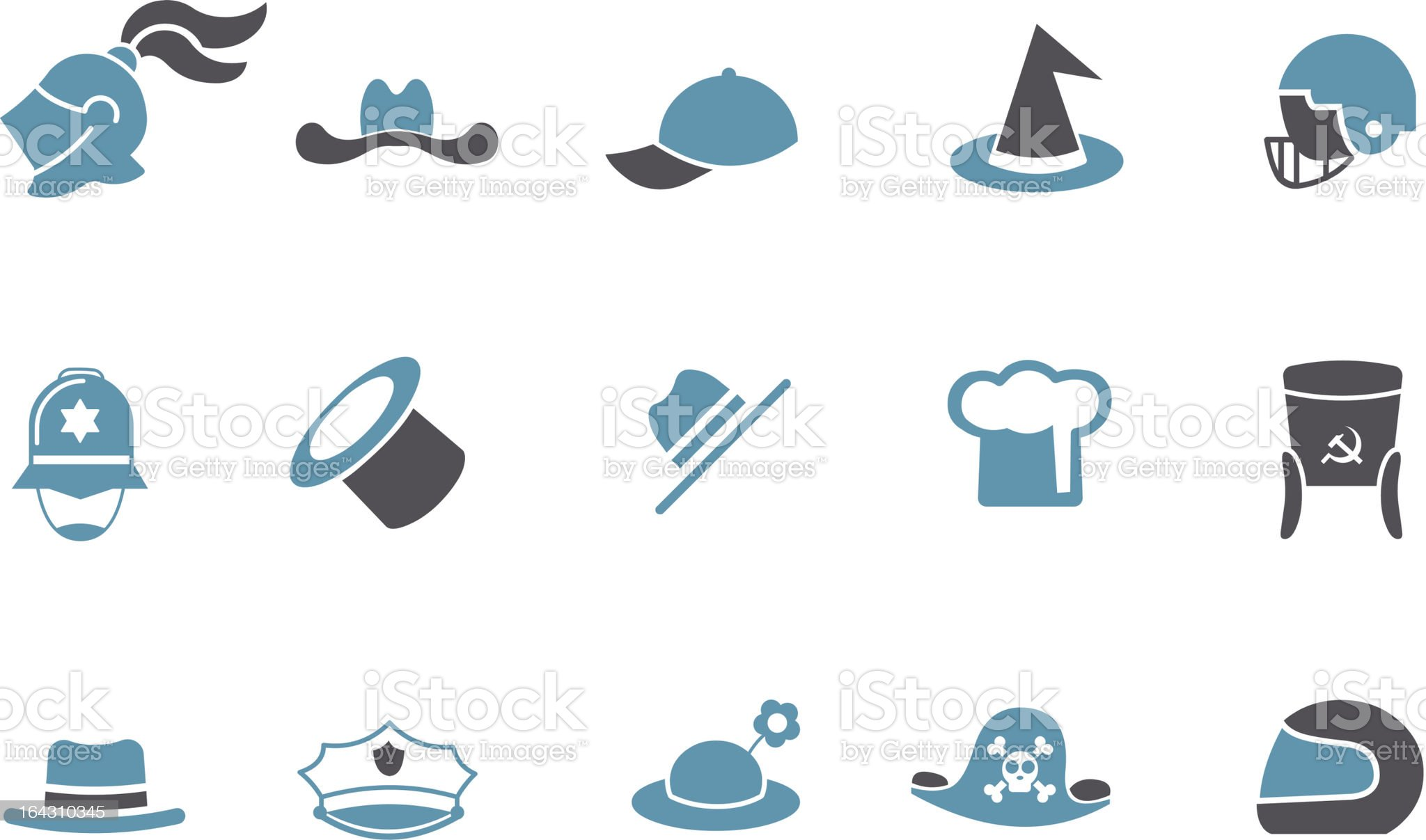 Hat Icon Set royalty-free stock vector art