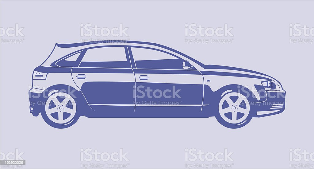 Hatchback royalty-free stock vector art