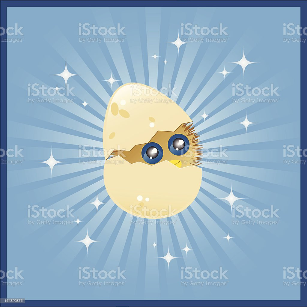 Hatching Chick royalty-free stock vector art