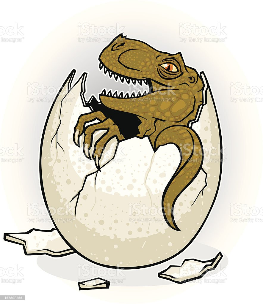 hatching dinosaur royalty-free stock vector art