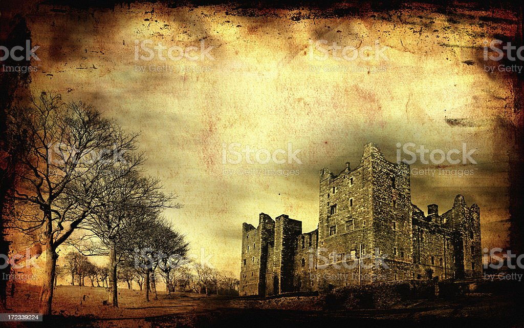 Haunted castle XXL vector art illustration