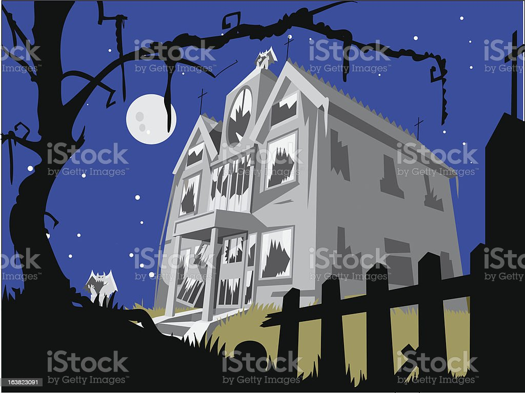 haunted house royalty-free stock vector art
