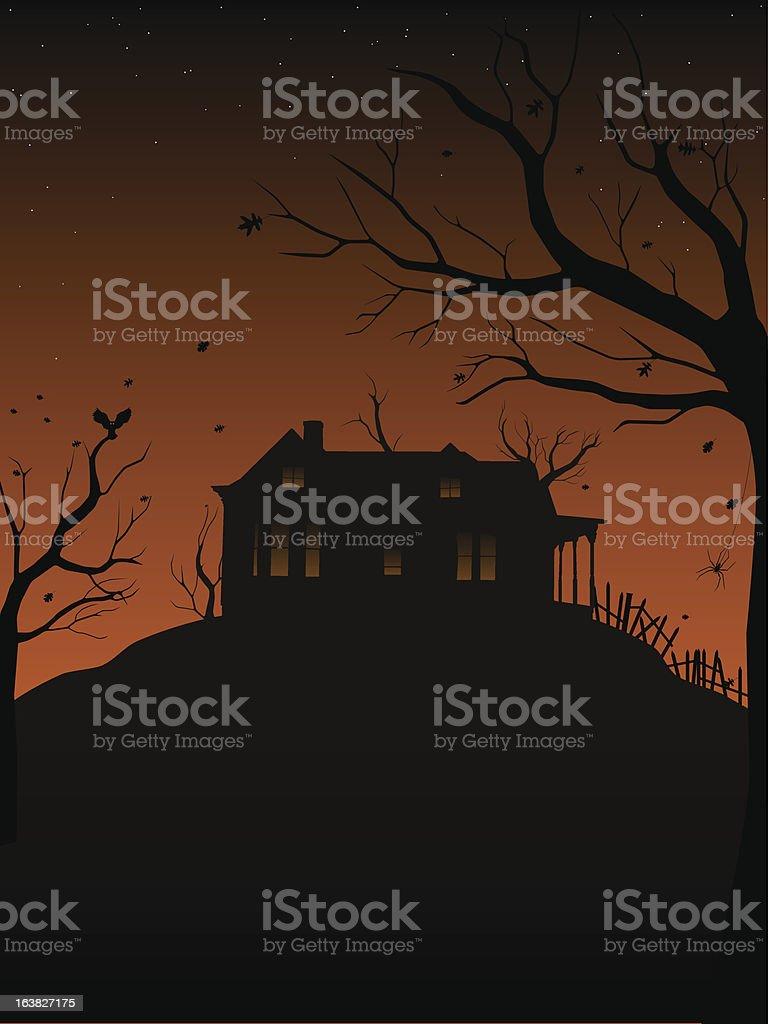 Haunted house royalty-free stock vector art