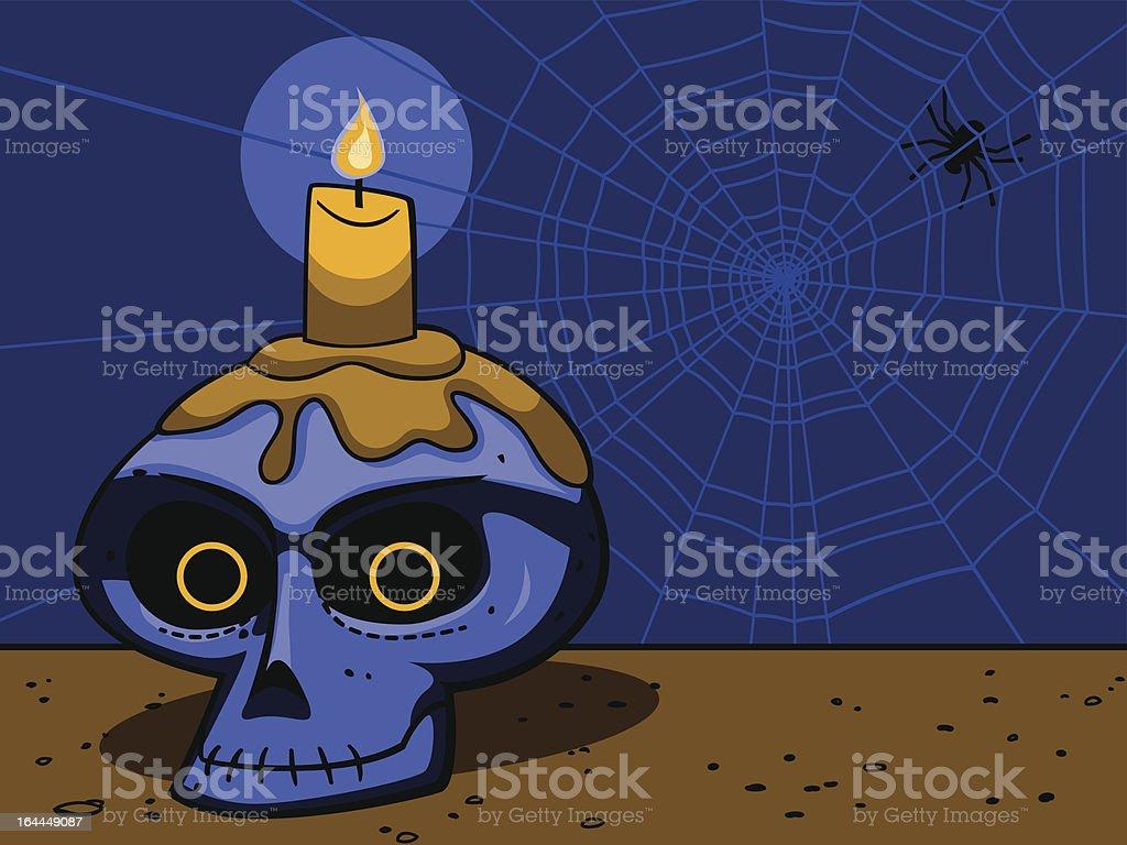 Haunted Skull Illustration royalty-free stock vector art