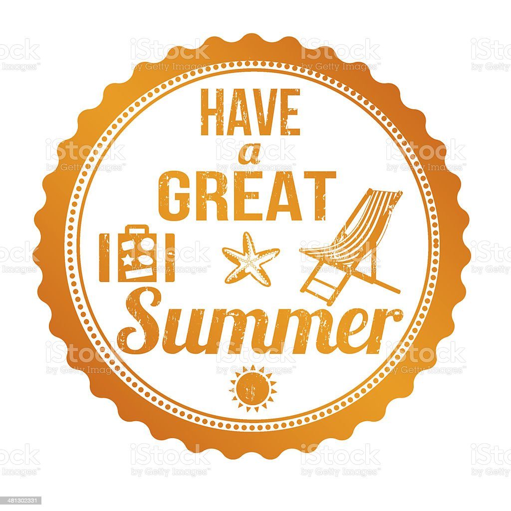 Have a great summer stamp vector art illustration
