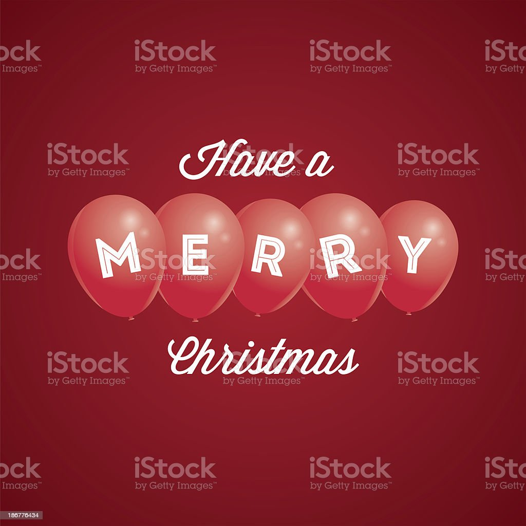 Have a merry Christmas royalty-free stock vector art