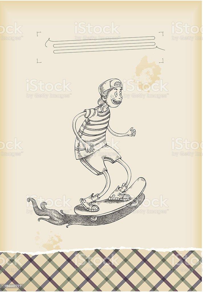 having fun - skateboarder royalty-free stock vector art