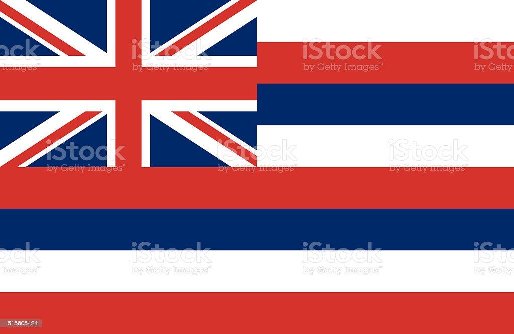 Hawaii flag vector art illustration