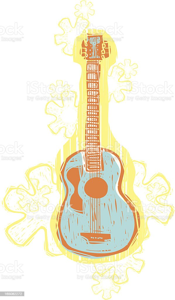 Hawaiian Guitar royalty-free stock vector art