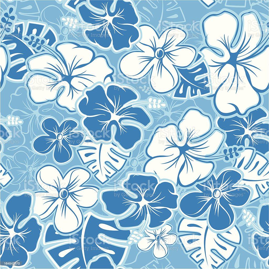 Hawaiian Pattern vector art illustration
