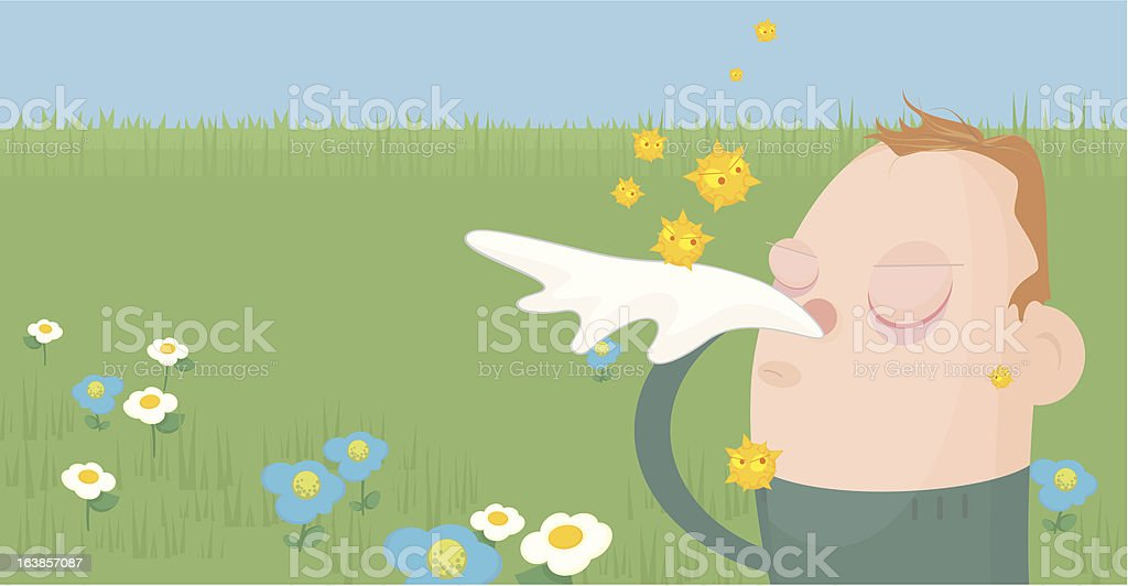 Hayfever royalty-free stock vector art