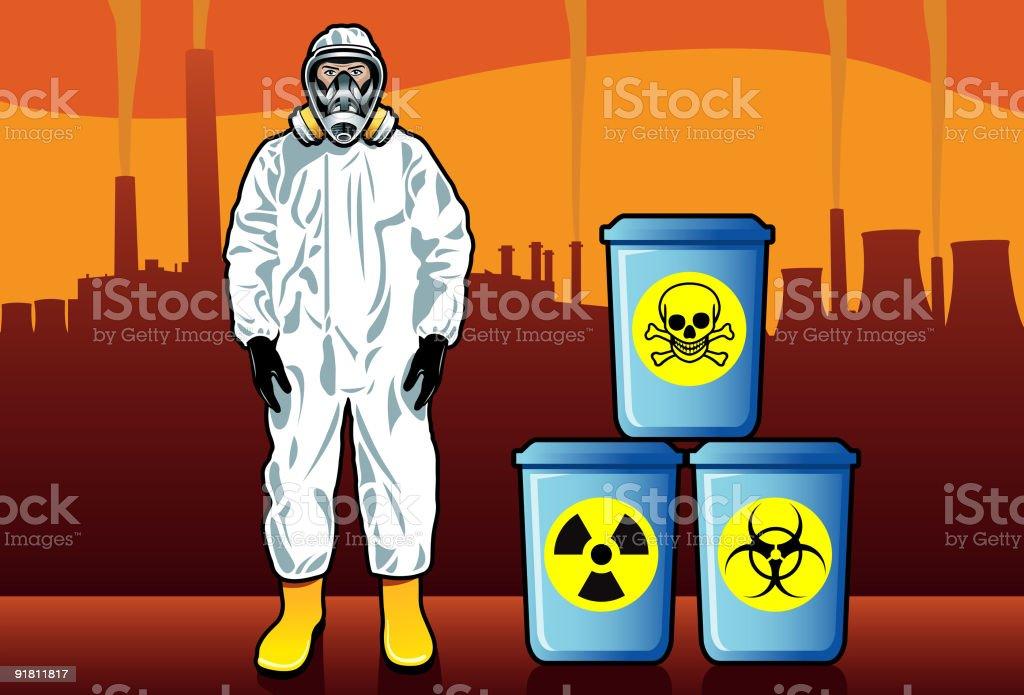 Hazardous Waste vector art illustration