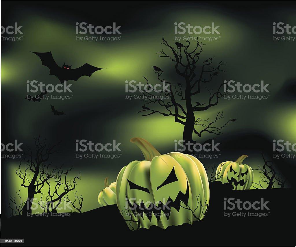 Hazy Pumpkin Patch royalty-free stock vector art