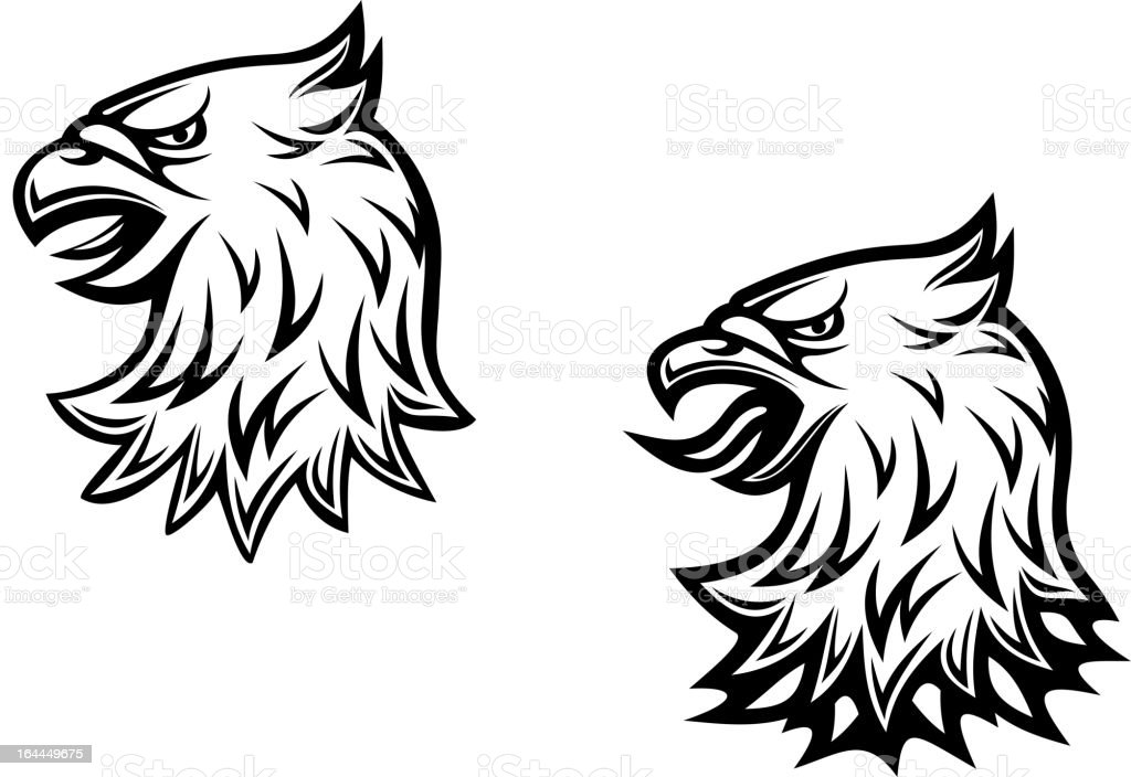 Head of heraldic eagle royalty-free stock vector art