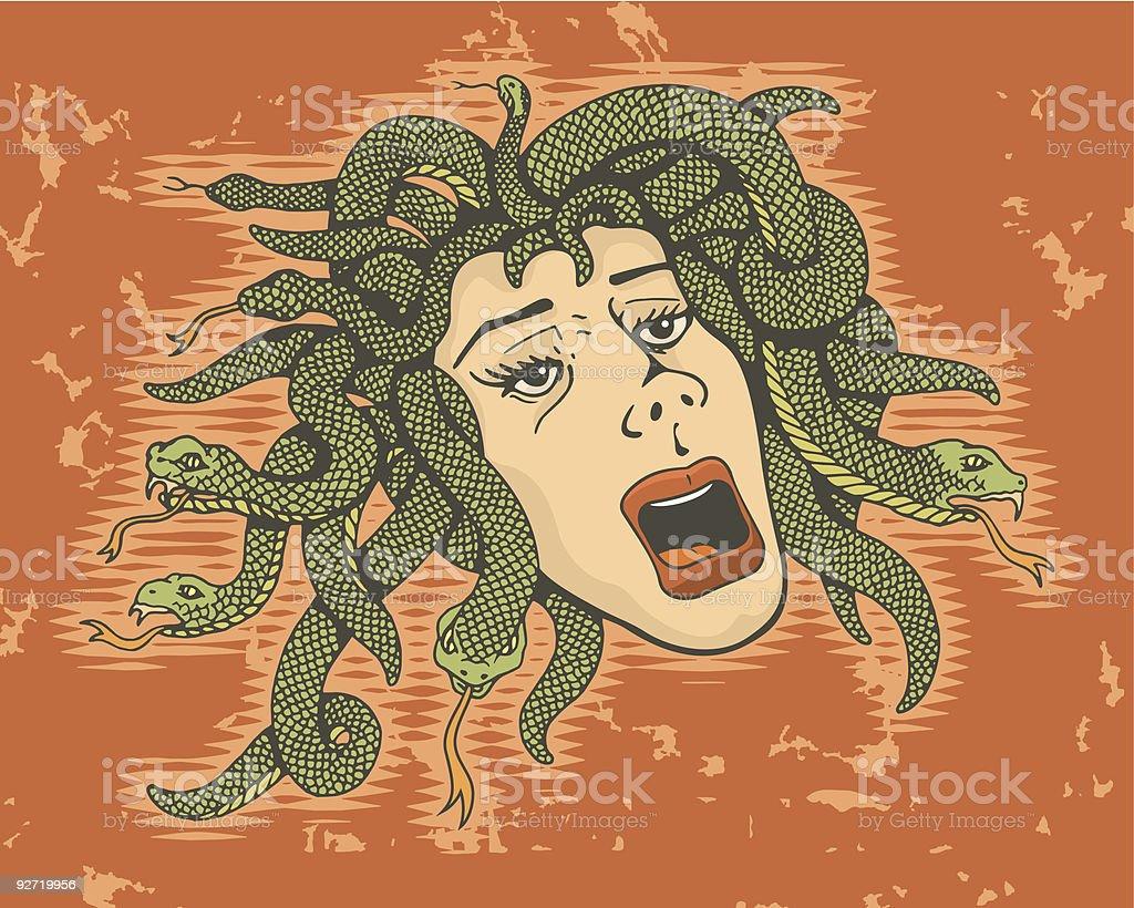 Head of Medusa royalty-free stock vector art
